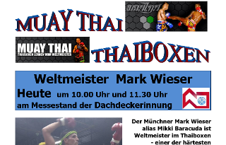 Thaiboxen - am IHM Messestand